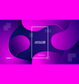 geometric background flat layout template vector image