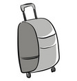 gray suitcase on white background vector image vector image