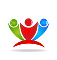 group of friends people teamwork icon vector image vector image