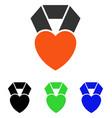 heart award flat icon vector image vector image
