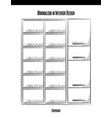 high cabinet with shelves and doors in a contour vector image
