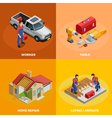 Home Improvement Isometric Template vector image vector image