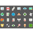 IT technology stickers set vector image