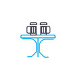 kitchen table linear icon concept kitchen table vector image