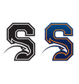 letter s with eagle head vector image