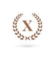 Letter x laurel wreath logo icon design template vector image vector image