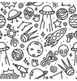 life in space seamless pattern black vector image vector image