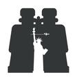 looking through binoculars New York vector image