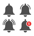 message bell icon vector image vector image