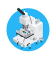 microscope scientists round concept vector image vector image