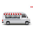 modern food truck vector image vector image