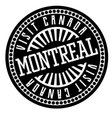 montreal black and white badge vector image vector image