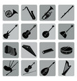 musical instruments icon set folk music signs vector image vector image