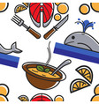 norway symbols food and fish whale and dishes vector image