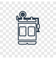 oxygen tank concept linear icon isolated on vector image