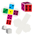 Paper dice vector image