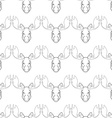 Pattern background with a deer Head pattern elk vector image vector image