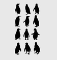 Penguin Silhouettes vector image vector image