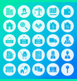 real estate circle solid icons vector image vector image