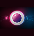 realistic circle pink and blue button on abstract vector image vector image