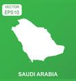 saudi arabia map icon business concept saudi vector image vector image