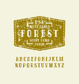 serif font in the style of handmade graphics vector image vector image