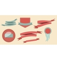 set retro ribbons and label vector image vector image