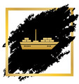 ship sign golden icon at vector image