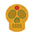 skull the day of the death mexican traditional vector image vector image