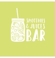 Smoothies and juices bar logotype vector image vector image