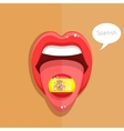 Spanish language concept vector image