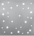 sparkling snowflakes falling vector image