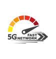 speed internet 5g abstract symbol speed 5g vector image vector image
