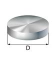steel disc industrial metal object vector image vector image