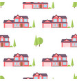 suburban american houses seamless pattern vector image vector image