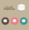 Sugar Cube vector image