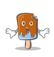 surprised ice cream character cartoon vector image vector image