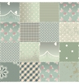 The patchwork quilt in shabby chic style with vector image