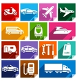 Transport flat icon bright color-09 vector image vector image