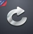 Upgrade arrow icon symbol 3D style Trendy modern vector image