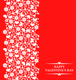valentine card red vector image vector image