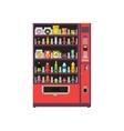 Vending machine product items set vector image