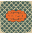 Vintage scale pattern with retro label vector | Price: 1 Credit (USD $1)
