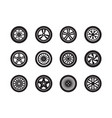 wheels car tire shapes transport wheels vector image