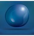 Transparent Soap Bubble on Blue Background vector image
