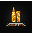 beer bottle poly design background vector image