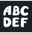 hand-draw colorful alphabet vector image