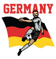 soccer player of germany vector image