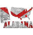 Alabama on a brick wall vector image