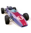 Classic F1 Racing Car vector image
